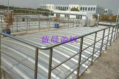 上海某毛纺织企业不锈钢拱形盖板污水池加盖工程案例