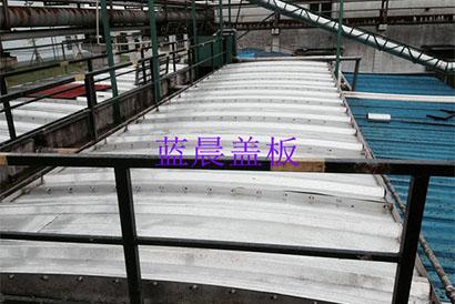 上海某制药有限公司污水池不锈钢拱形盖板加盖工程