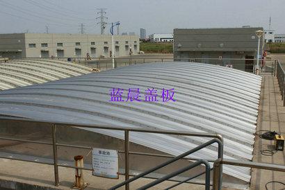 江苏某医药集团污水站臭气处理设施改造不锈钢盖板加盖